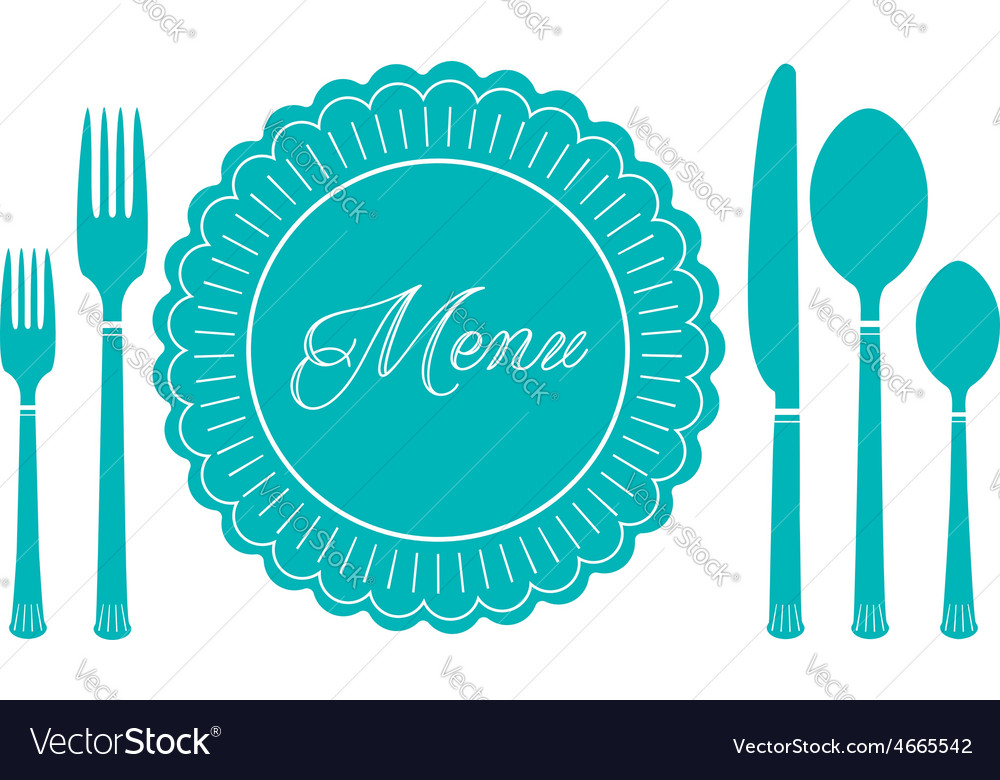 Plate knife and fork icon Menu sign
