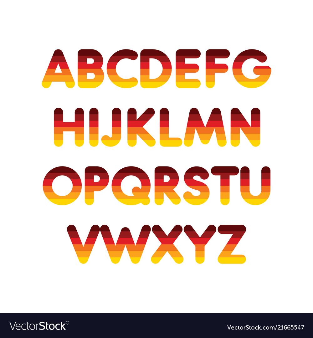 Alphabet step gradient