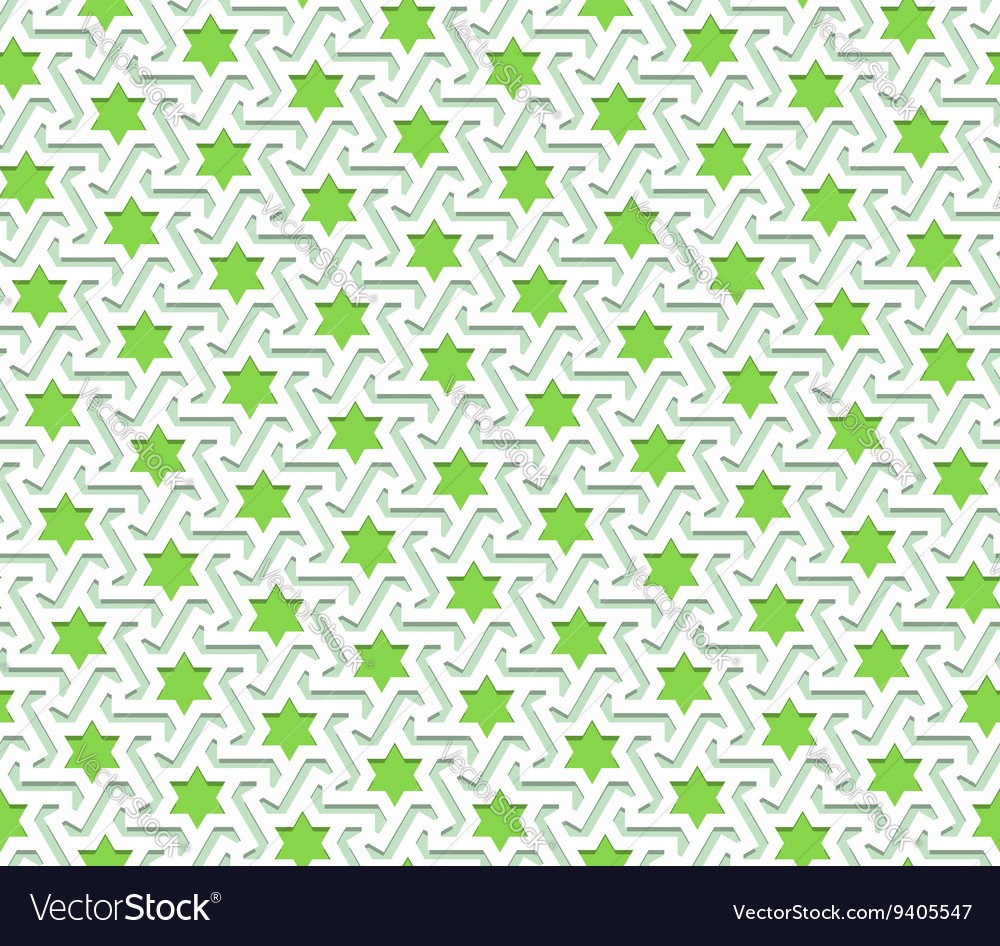 Arabic Pattern Colored Seamless Ornament vector image
