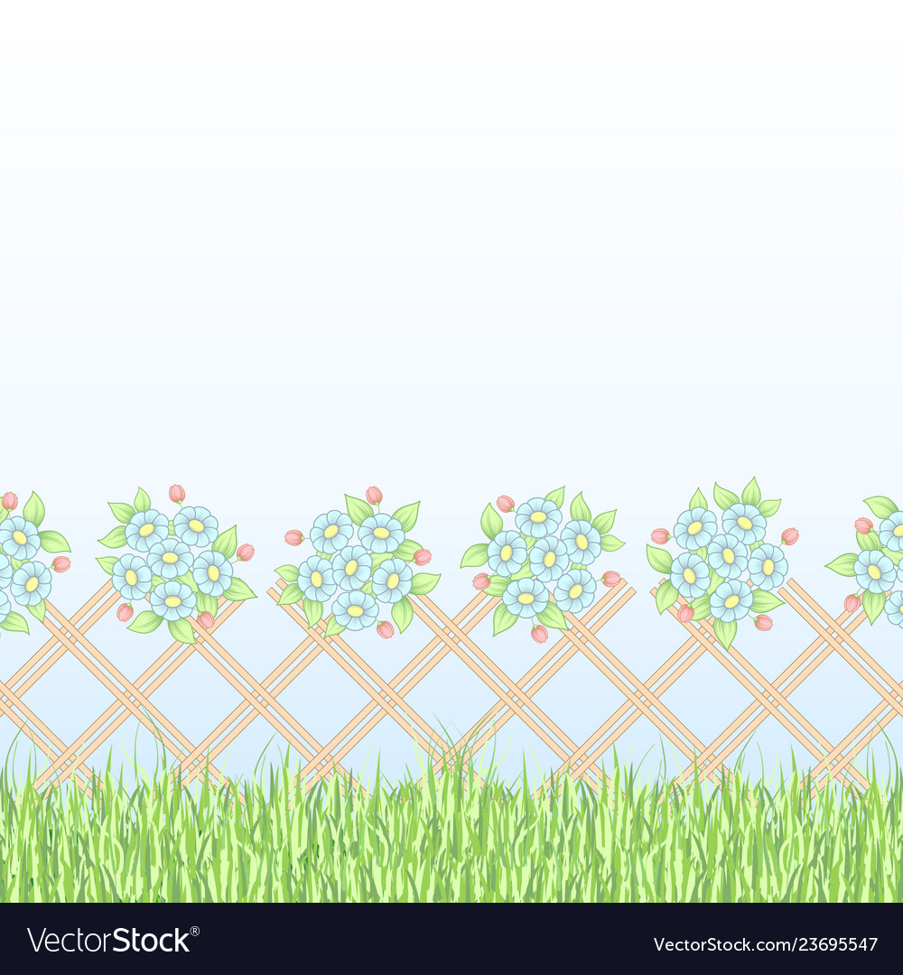 Brown lattice with flowers