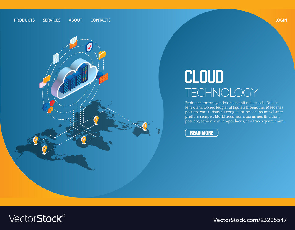 Cloud technology landing page website