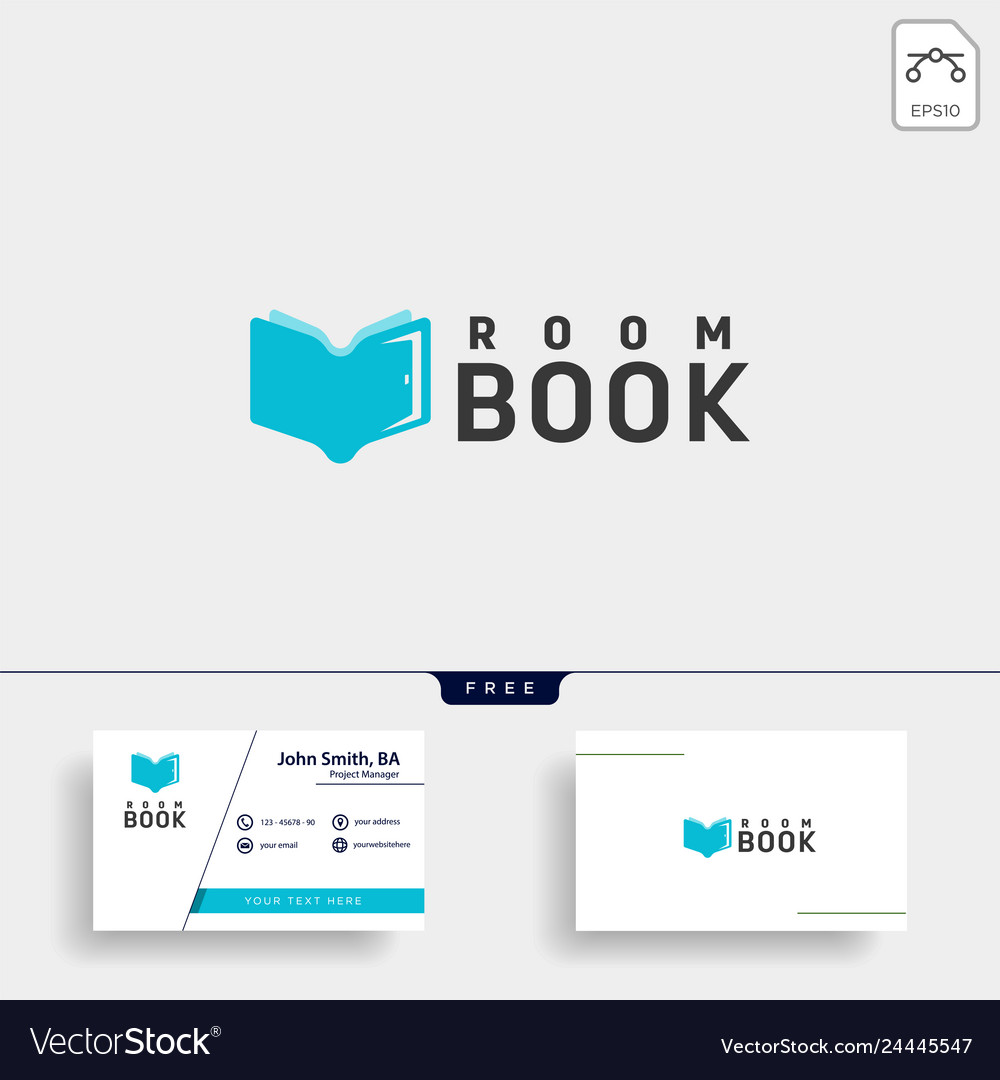 Door education book library logo template icon
