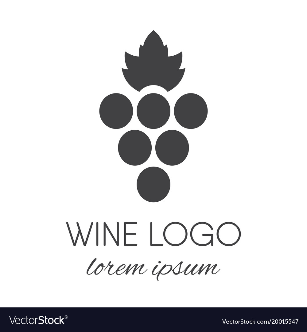 Grapes logo design element