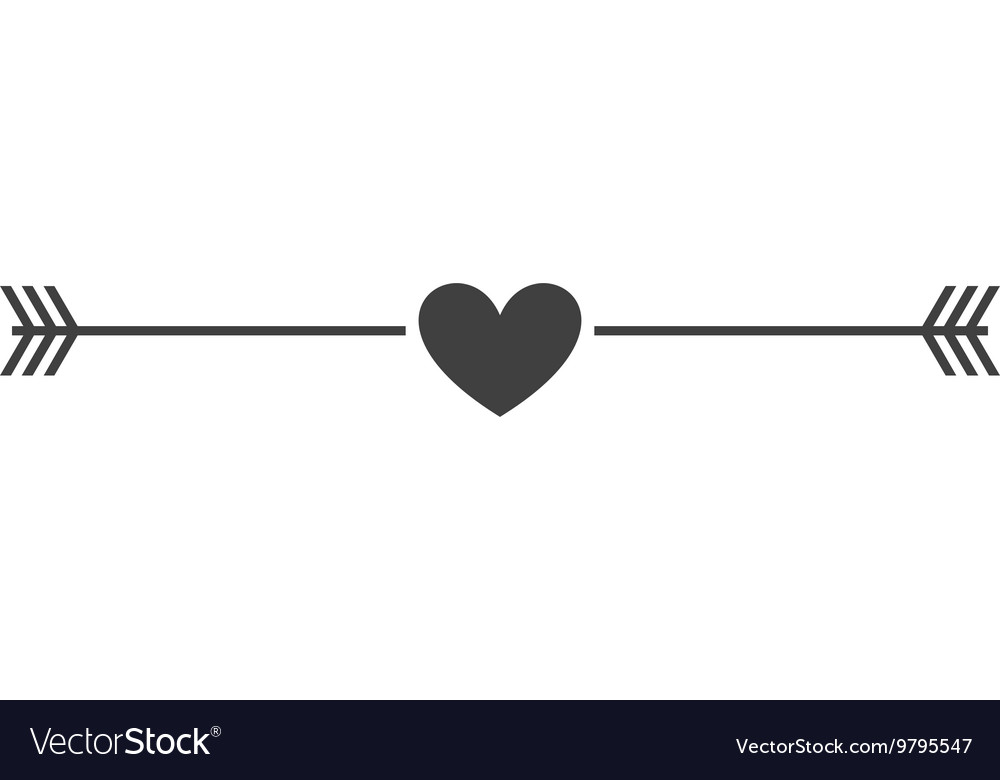 Heart love isolated icon design vector image