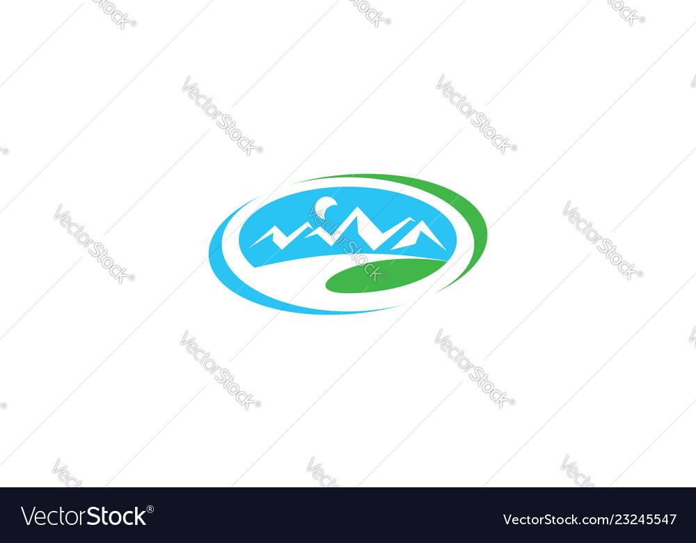 Outdoor mountain logo icon