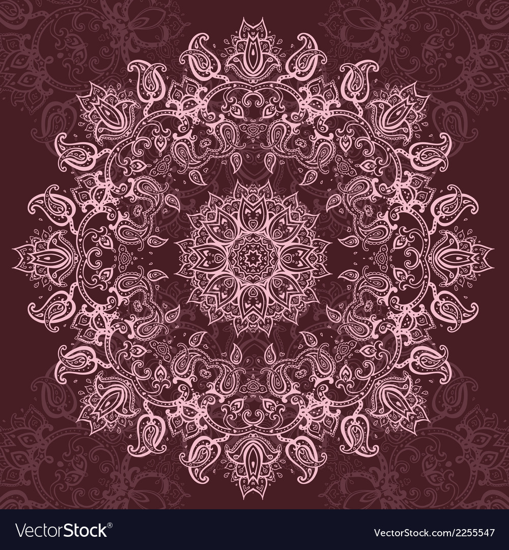 Pink Mandala vector image