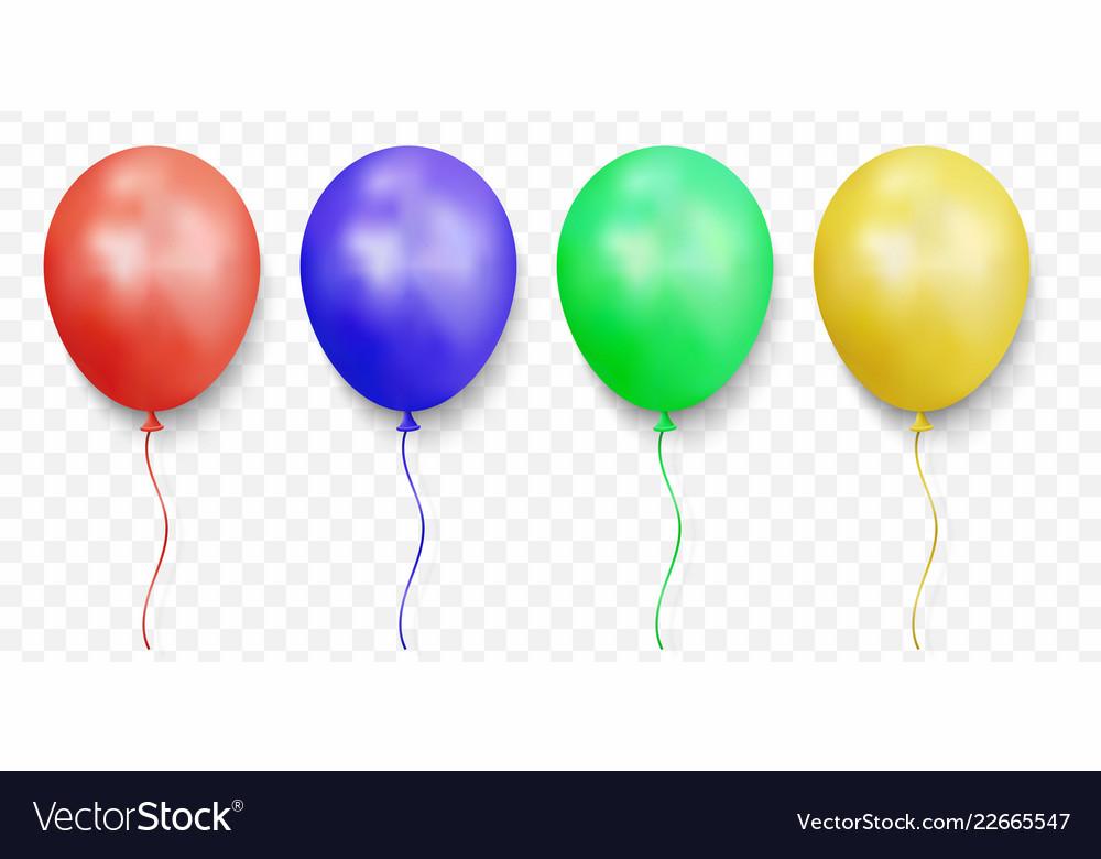 Realistic glossy balloons