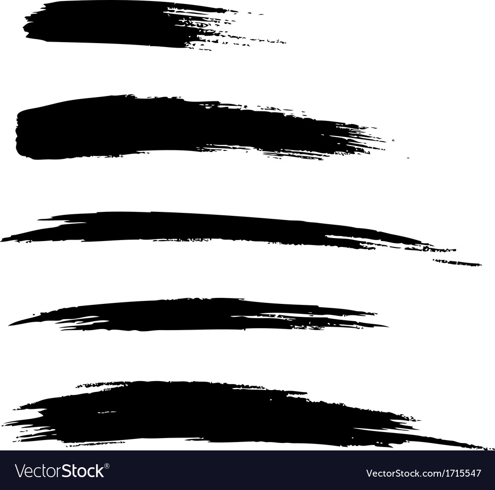 set of hand drawn grunge brush lines royalty free vector