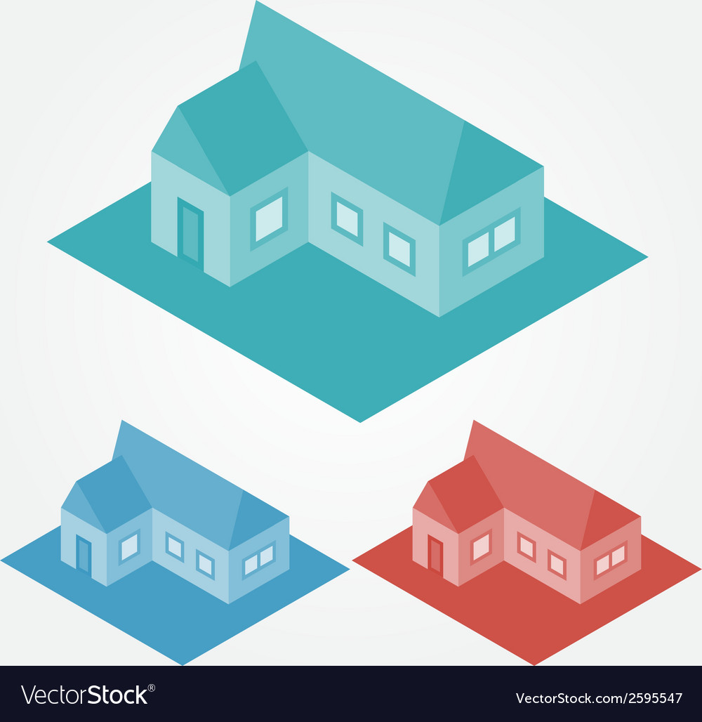 Simple isometric abstract houses