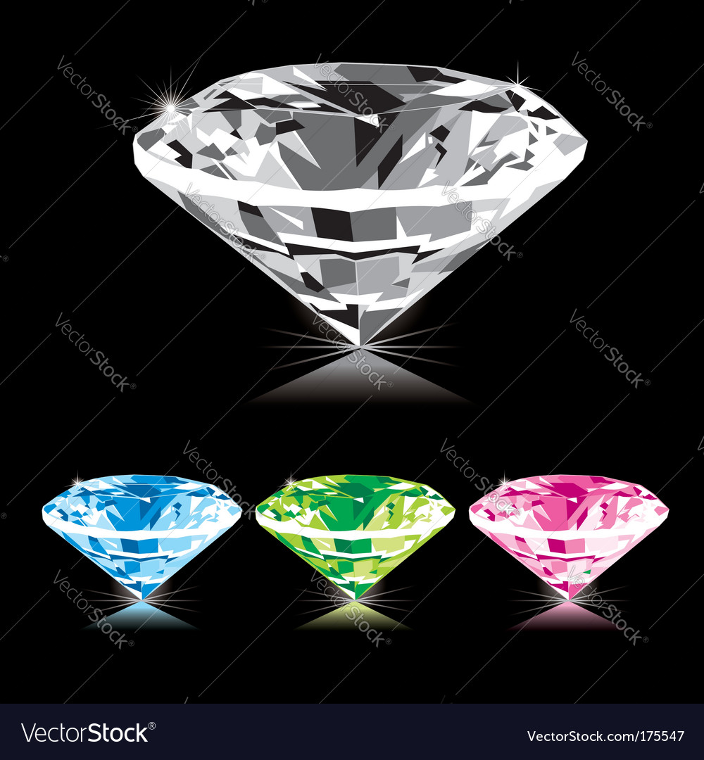 Varicolored diamond vector image