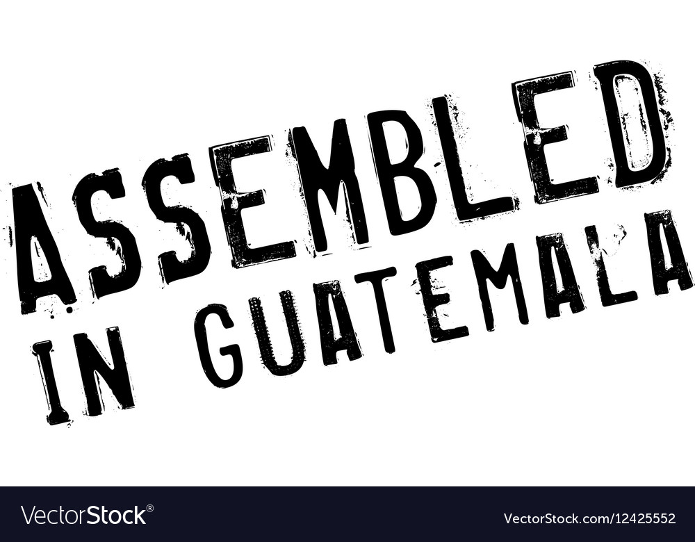 Assembled in Guatemala rubber stamp vector image