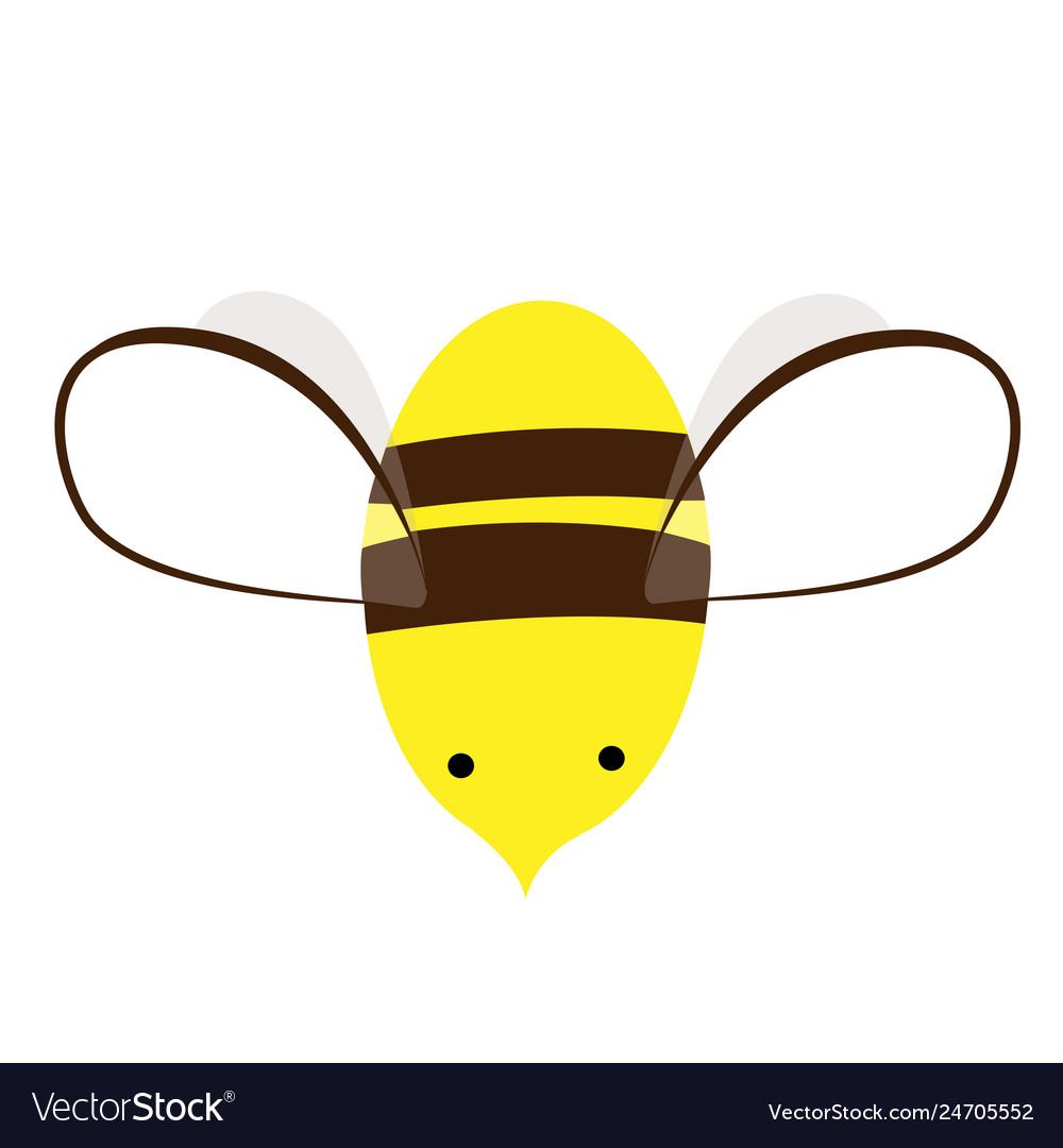 Bee logo or icon design doodle hand drawn