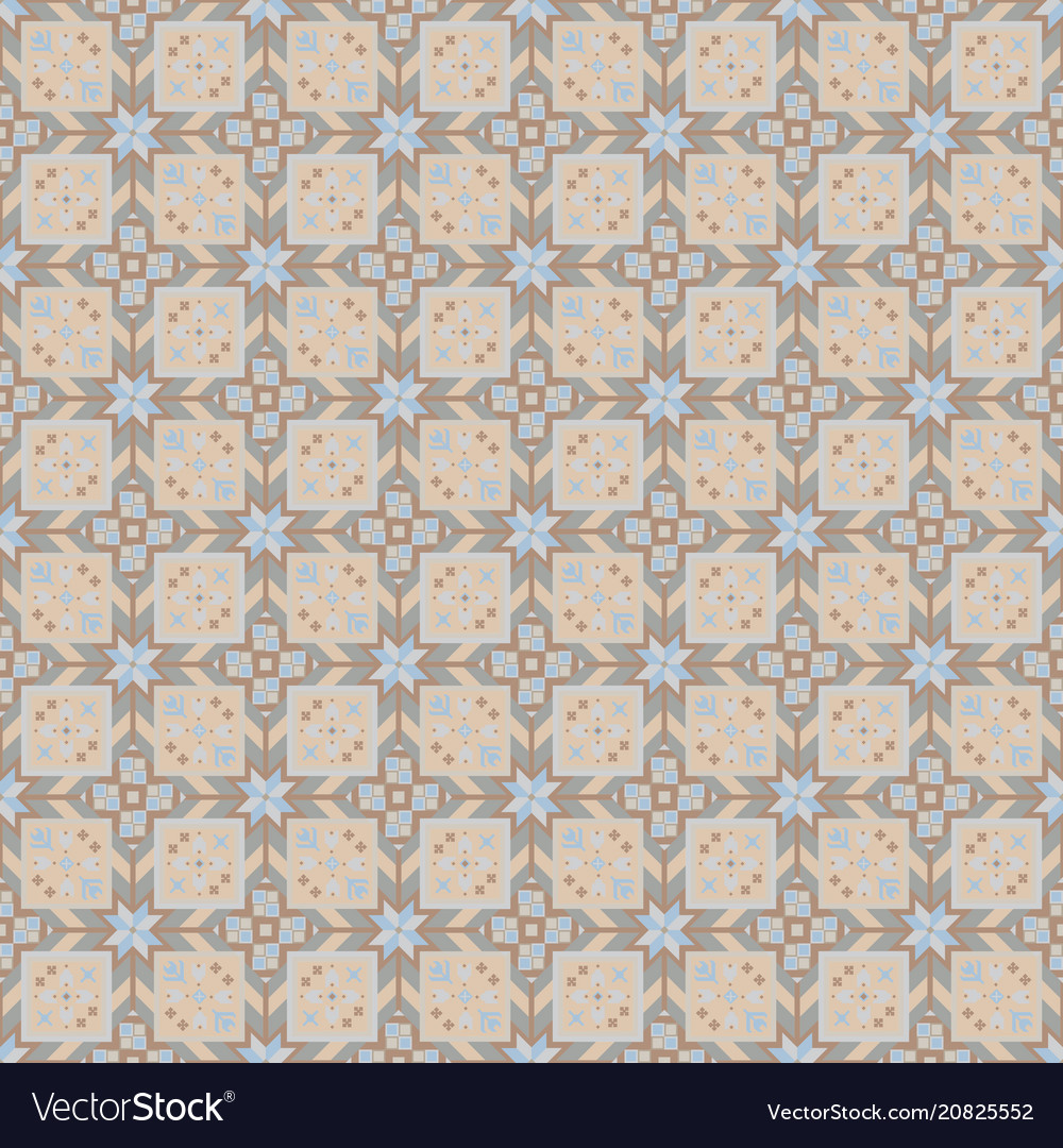 Beige geometrical seamless pattern