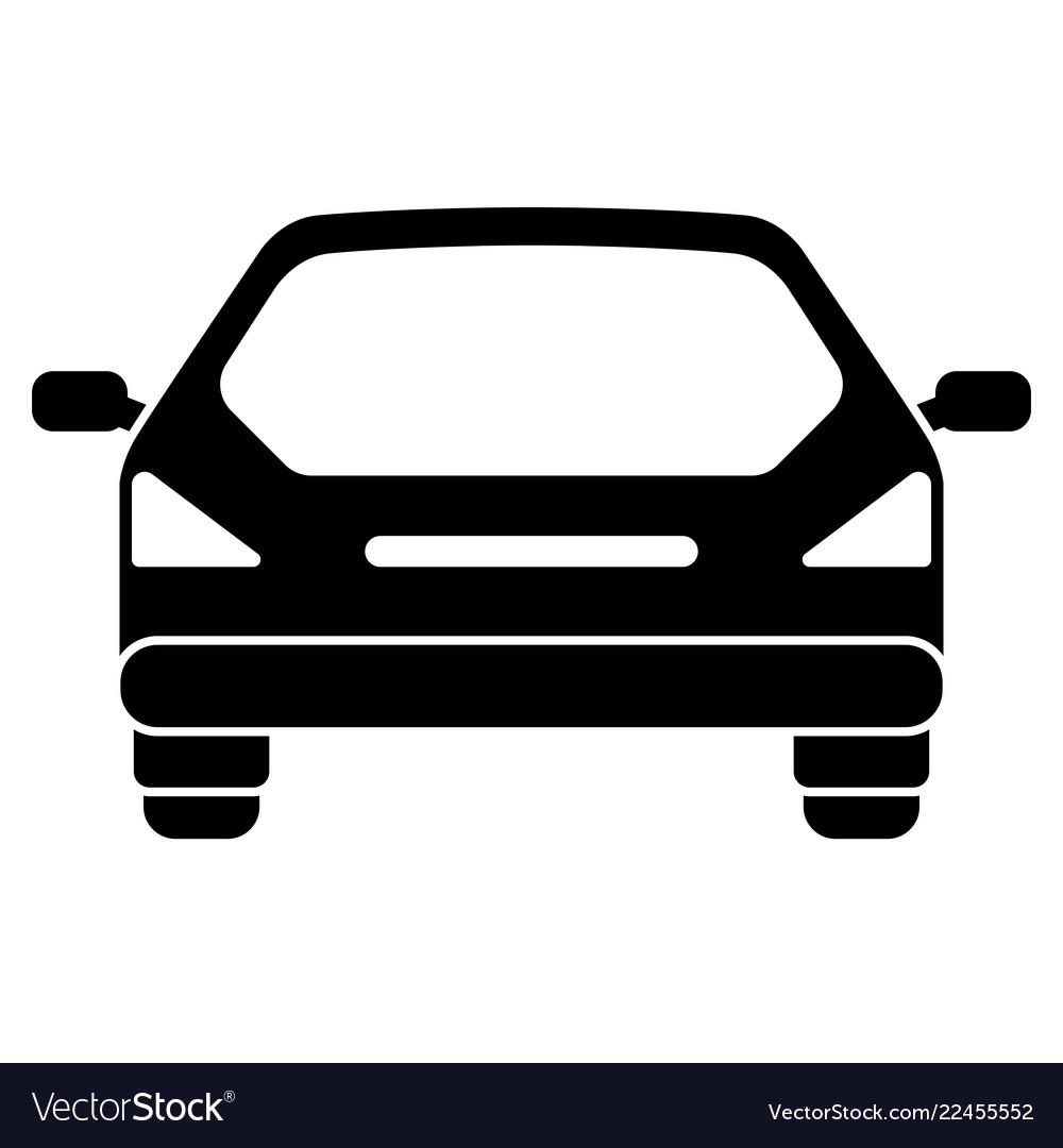 Car Icon Rear View Royalty Free Vector Image Vectorstock