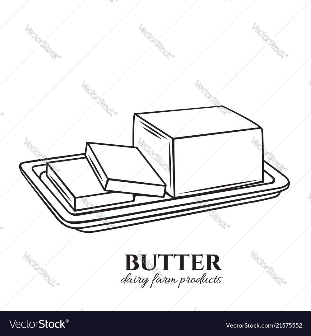 Outline butter icon