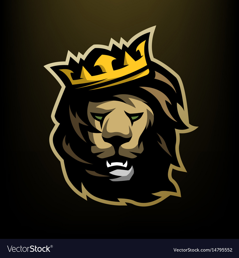 The Lion King With A Crown Vector Image