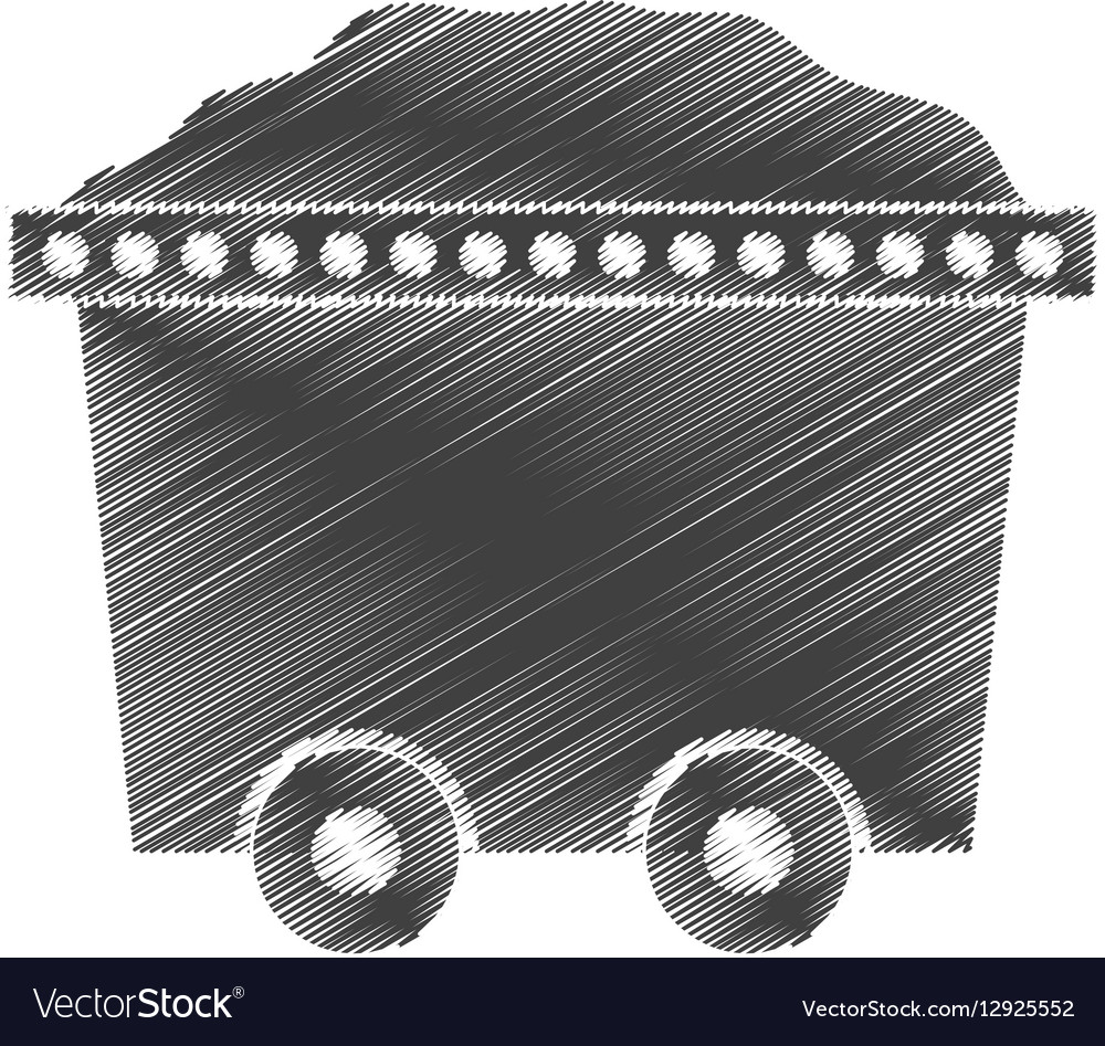 Trolley car mining mineral full stock vector image