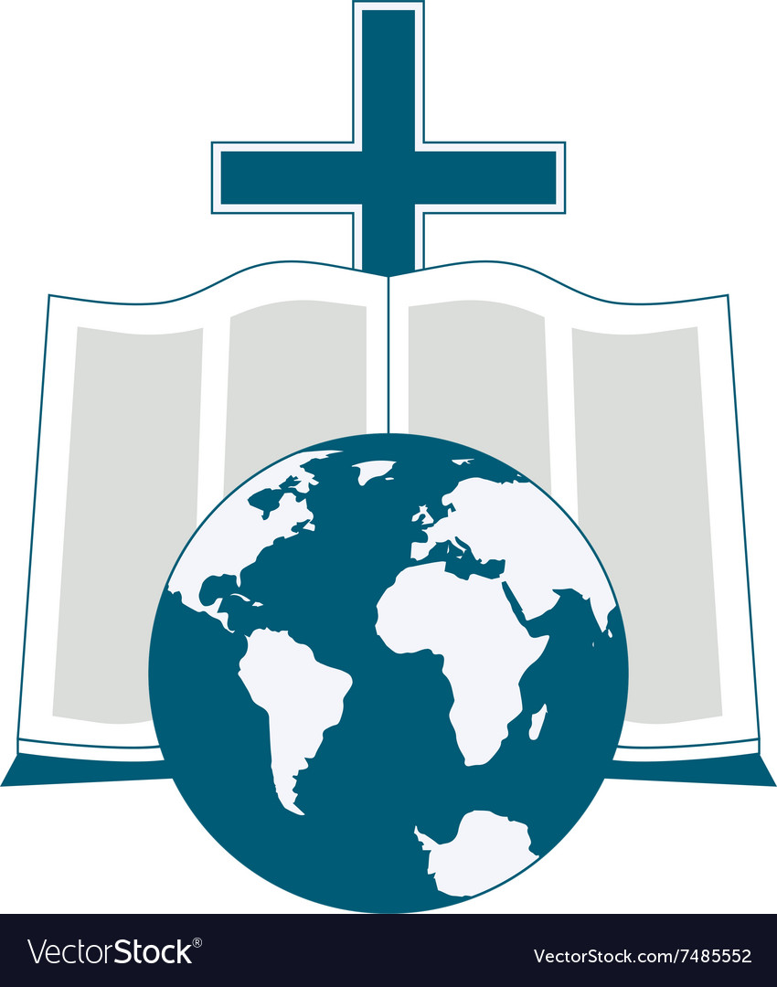 World with Jesus Christ vector image