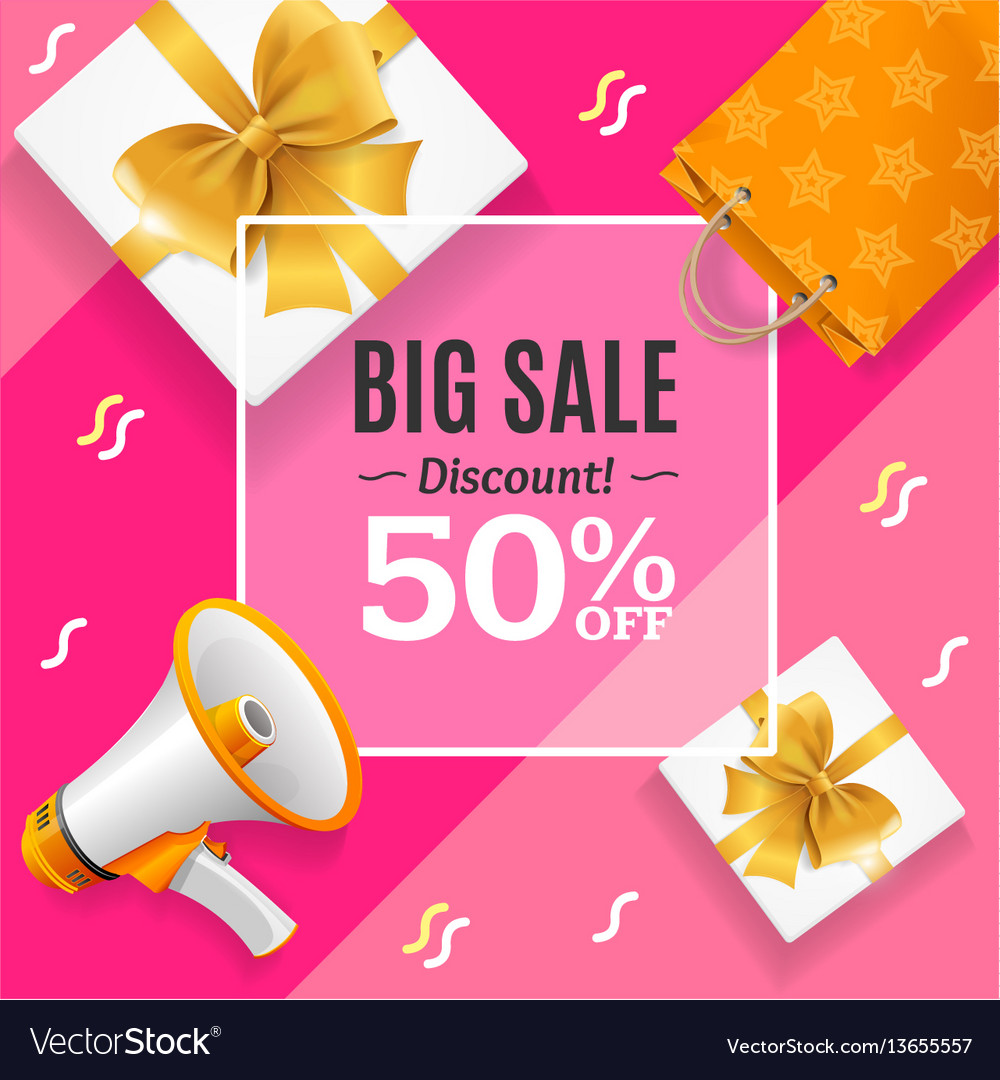 Big sale banner card or poster