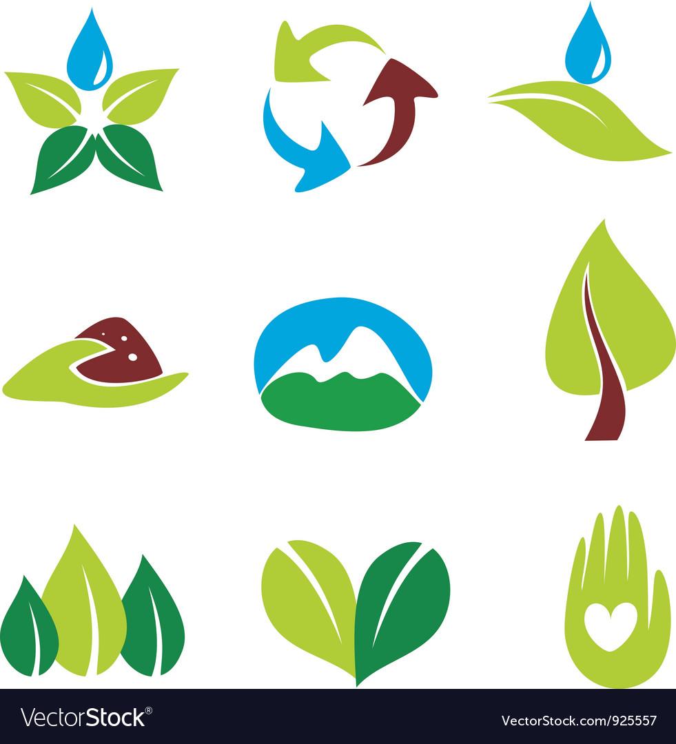 Eco nature logos vector image