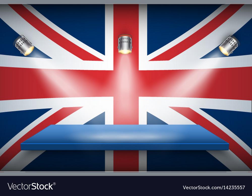 Great britain flag and platform