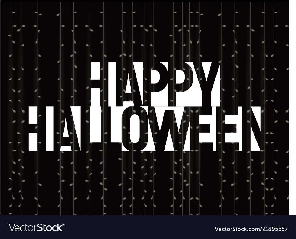 Happy halloween greeting card negative space
