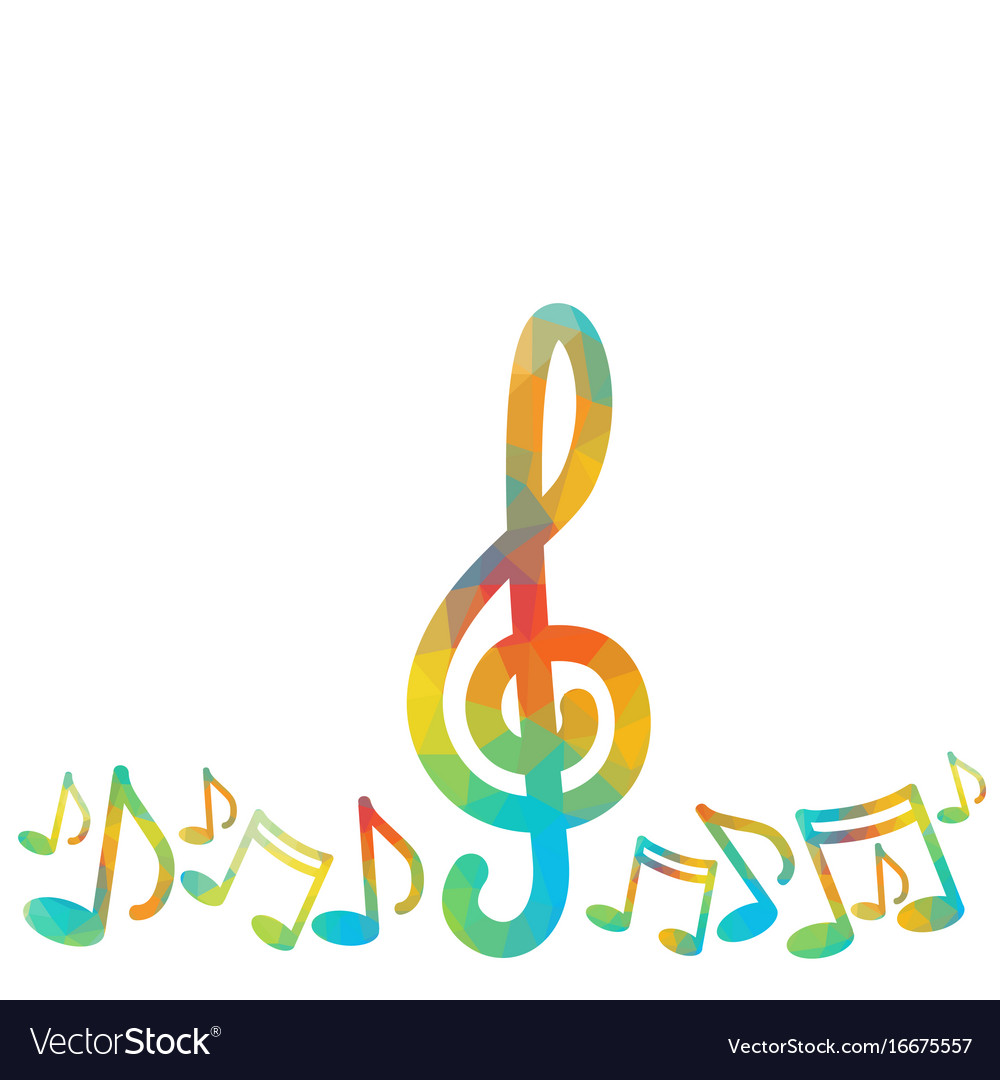 Notes music concert banner colorful modern musical