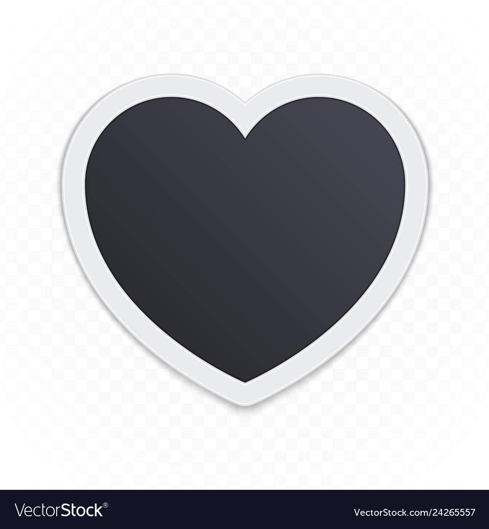 Photo frame heart