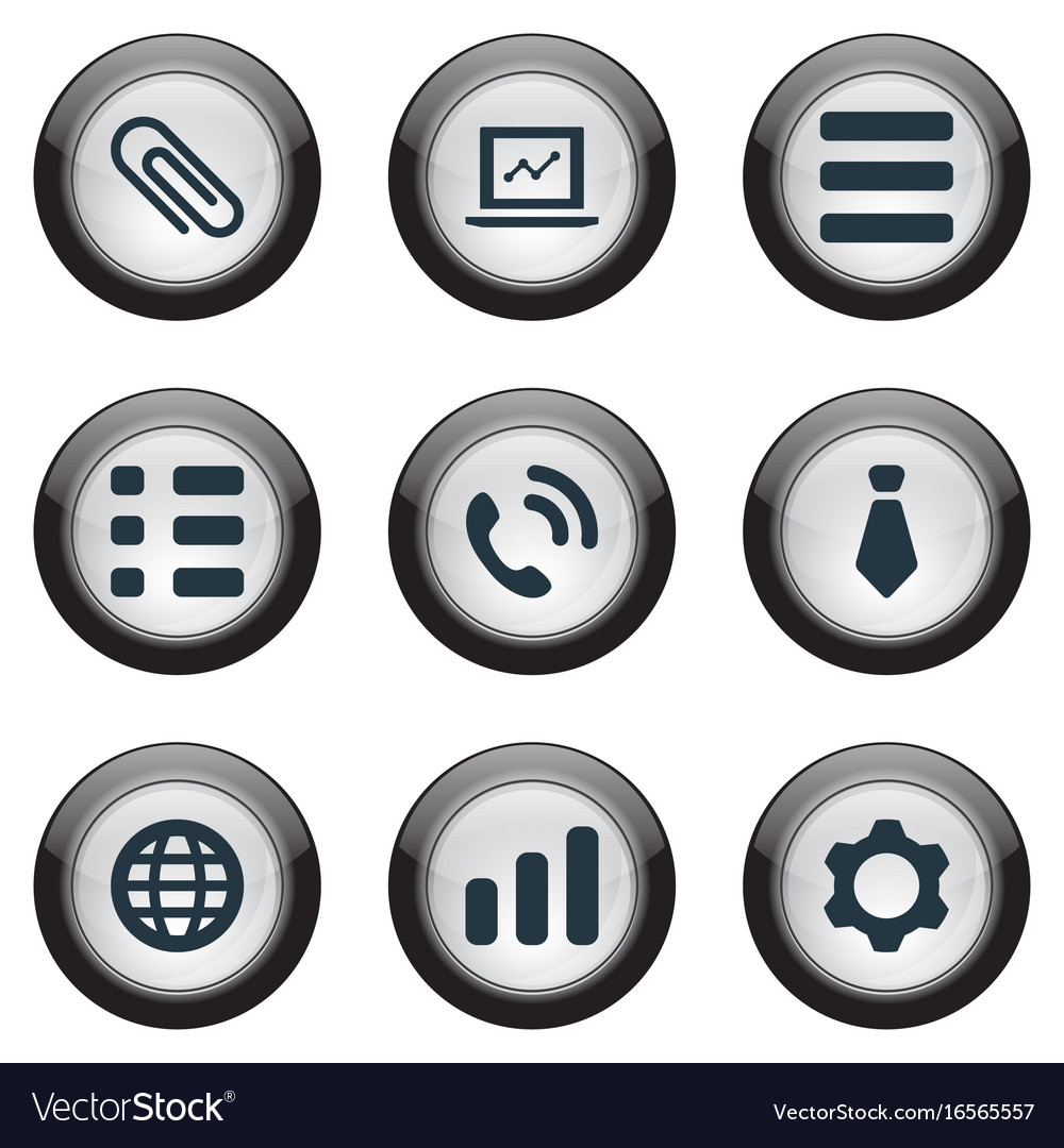Set of simple interaction vector image