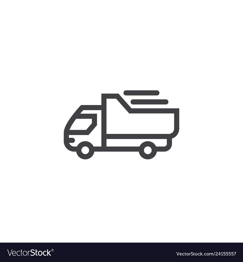 Truck line icon isolated on a white background