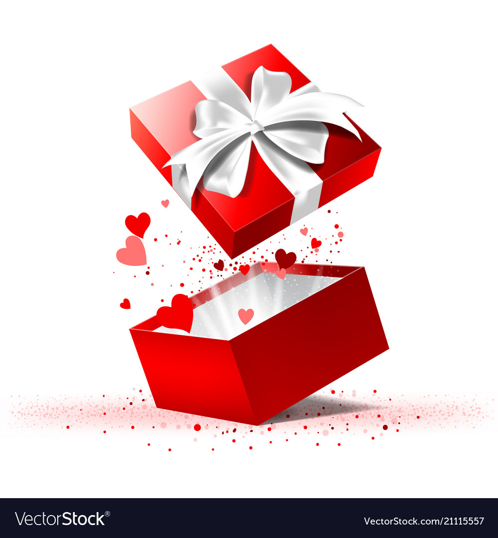 Valentines Day Gift Box Royalty Free Vector Image
