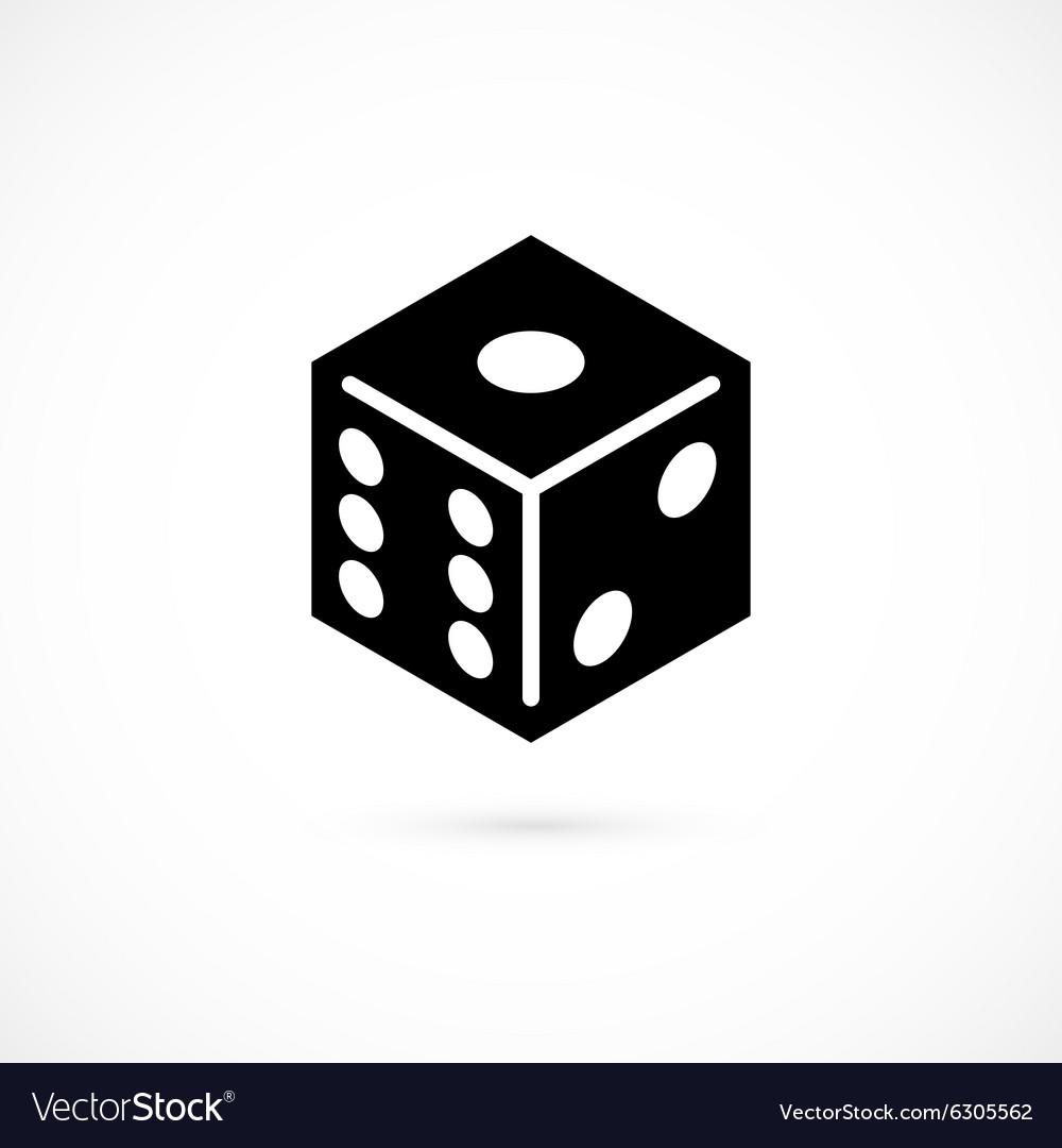 Dice icon isolated on white background vector image