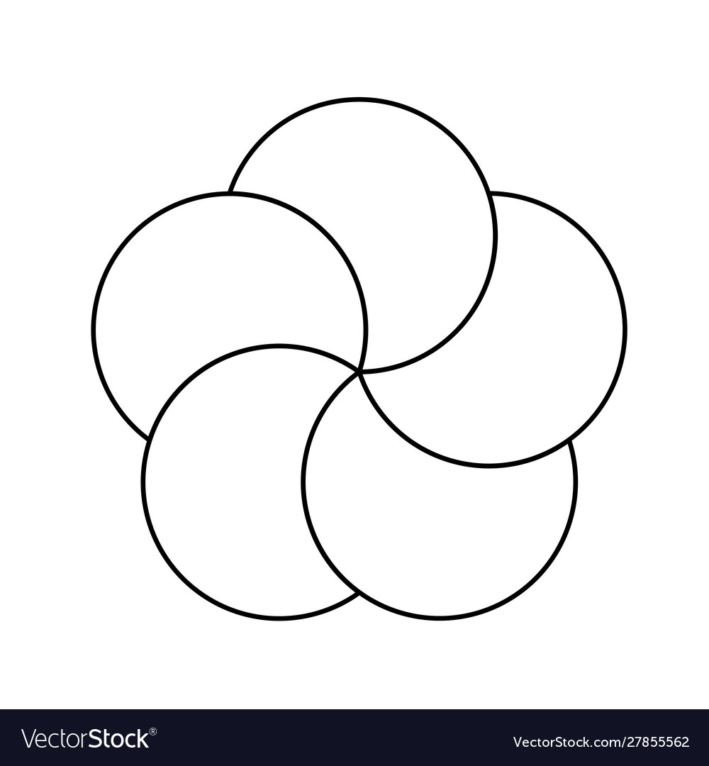 Five line circles infographic elements template 5