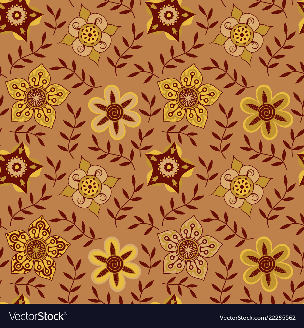 Floral seamless pattern handdrawn