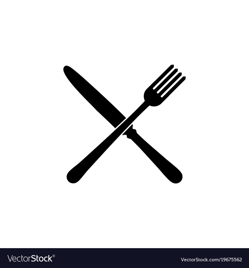 fork and knife restaurant icon royalty free vector image