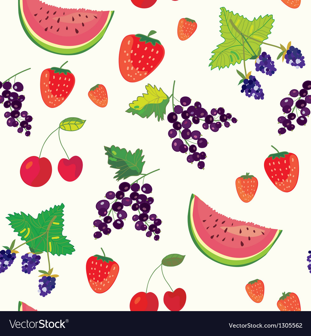 Fruits and berry funny seamless