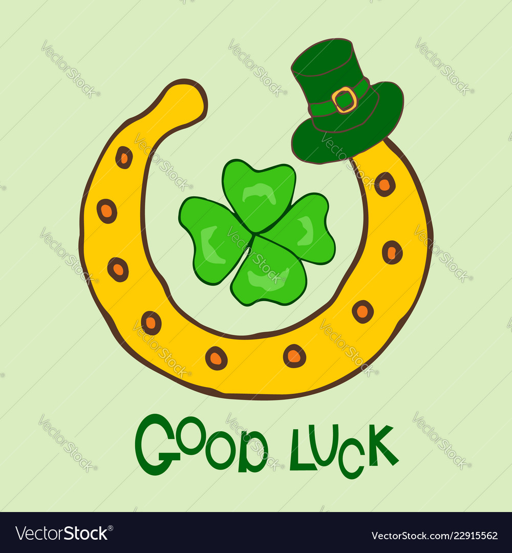 Good luck st patrick s day holiday greeting card