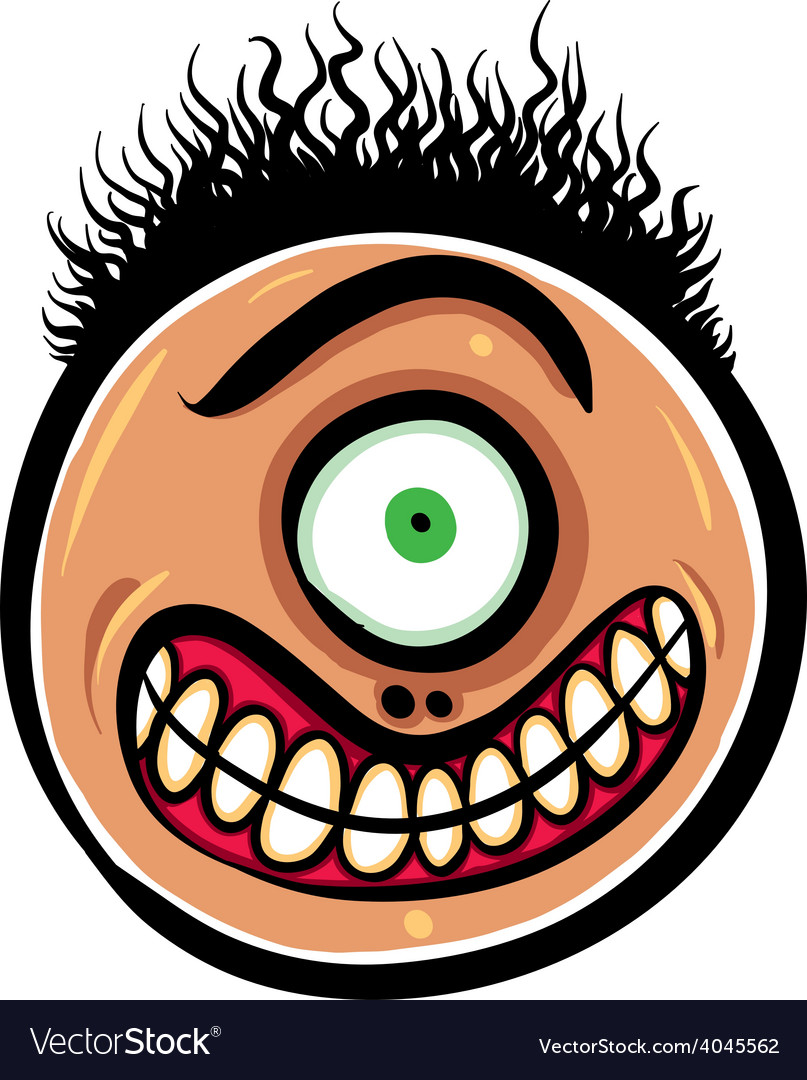 shocked cartoon face with one eye royalty free vector image rh vectorstock com shocked face cartoon pic picture of shocked face cartoon