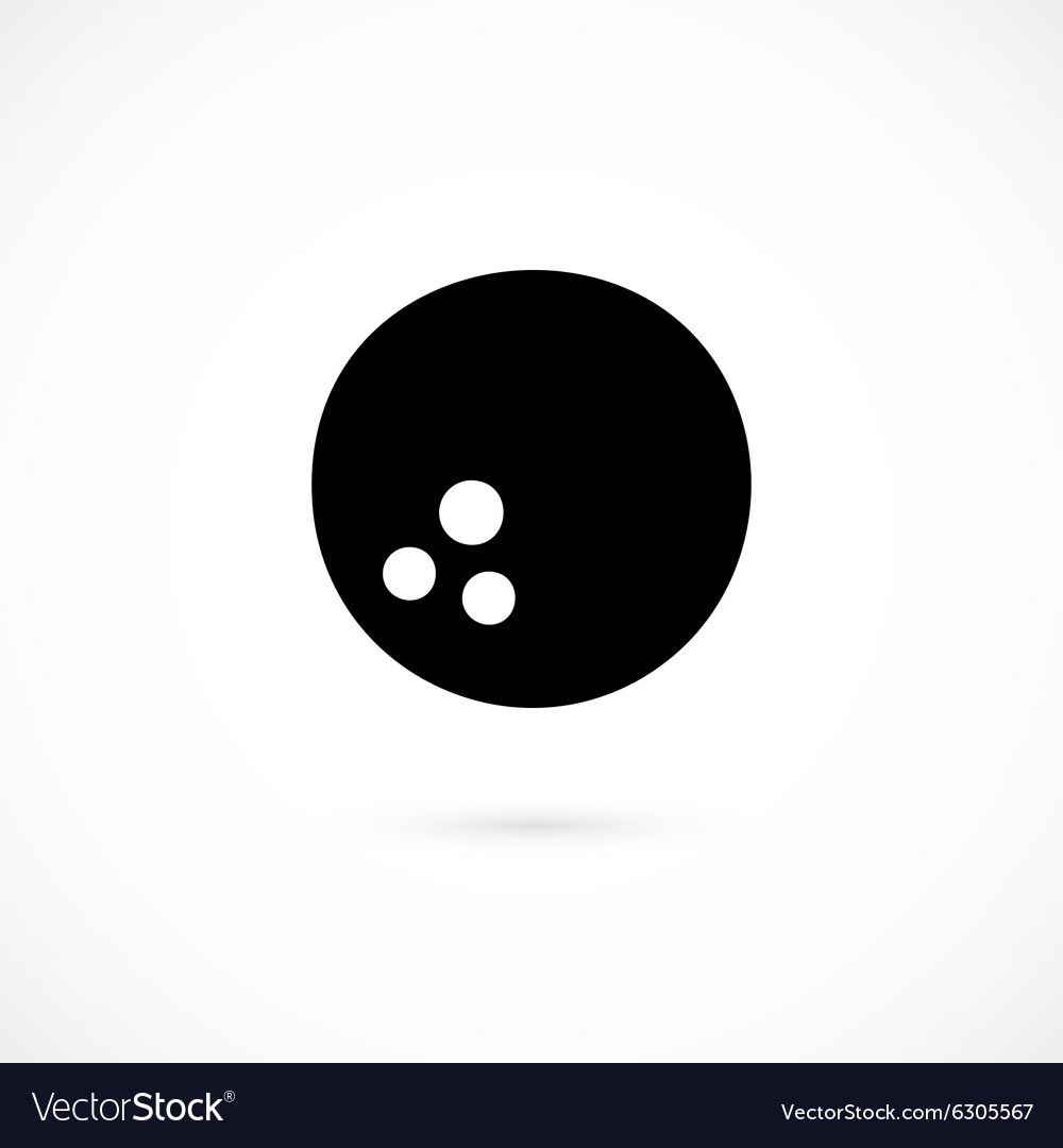 Bowling icon isolated on white background vector image