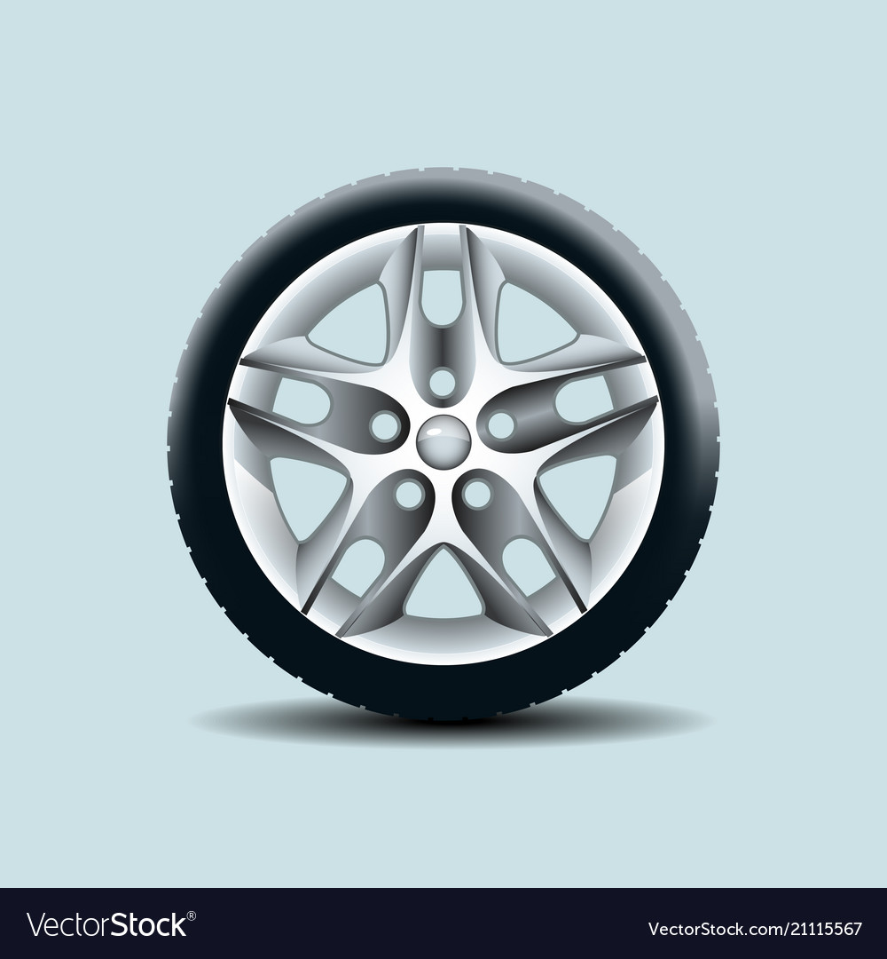 Car wheel isolated on clear background