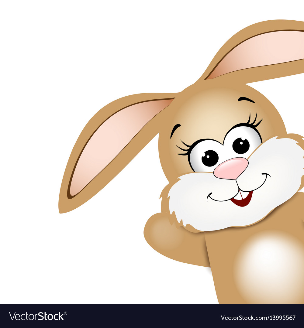 Easter card design template funny easter bunny