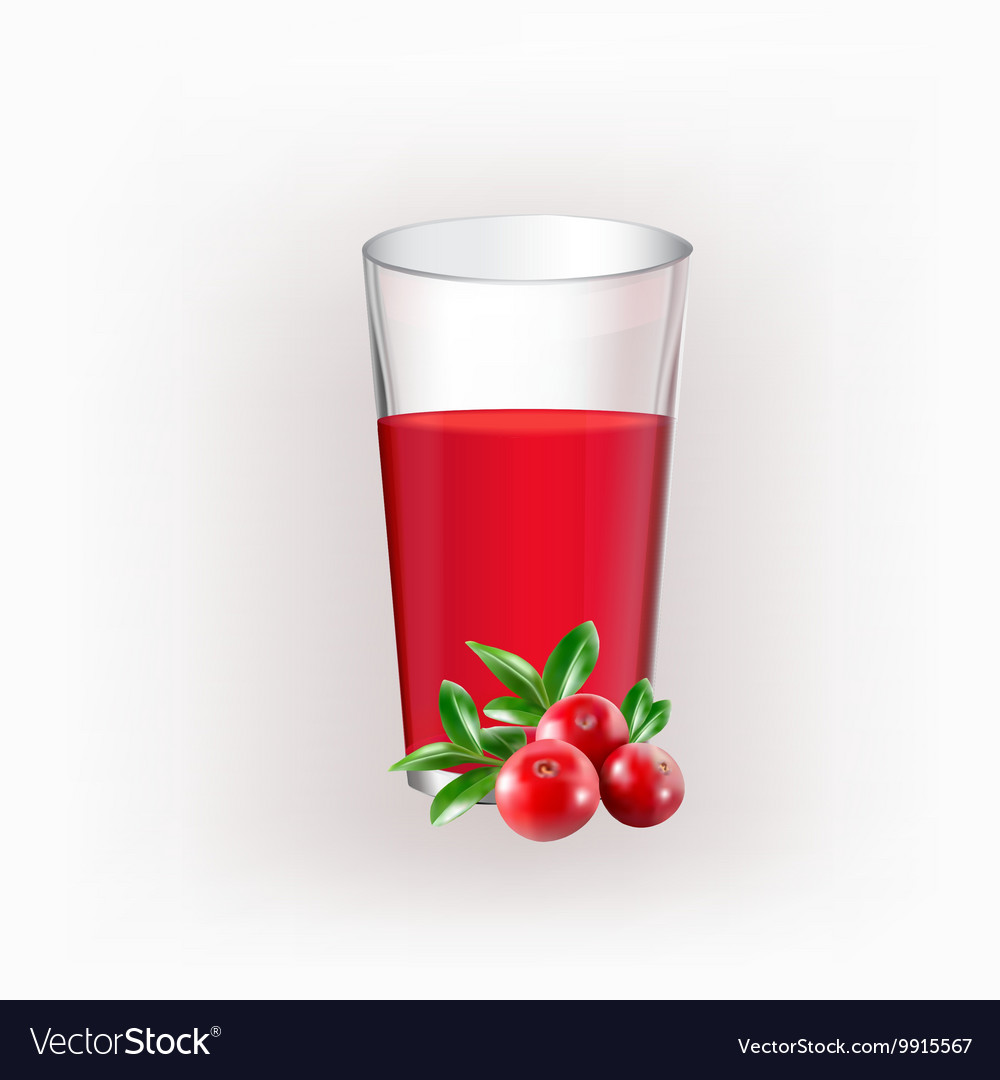 Glass cup with juice