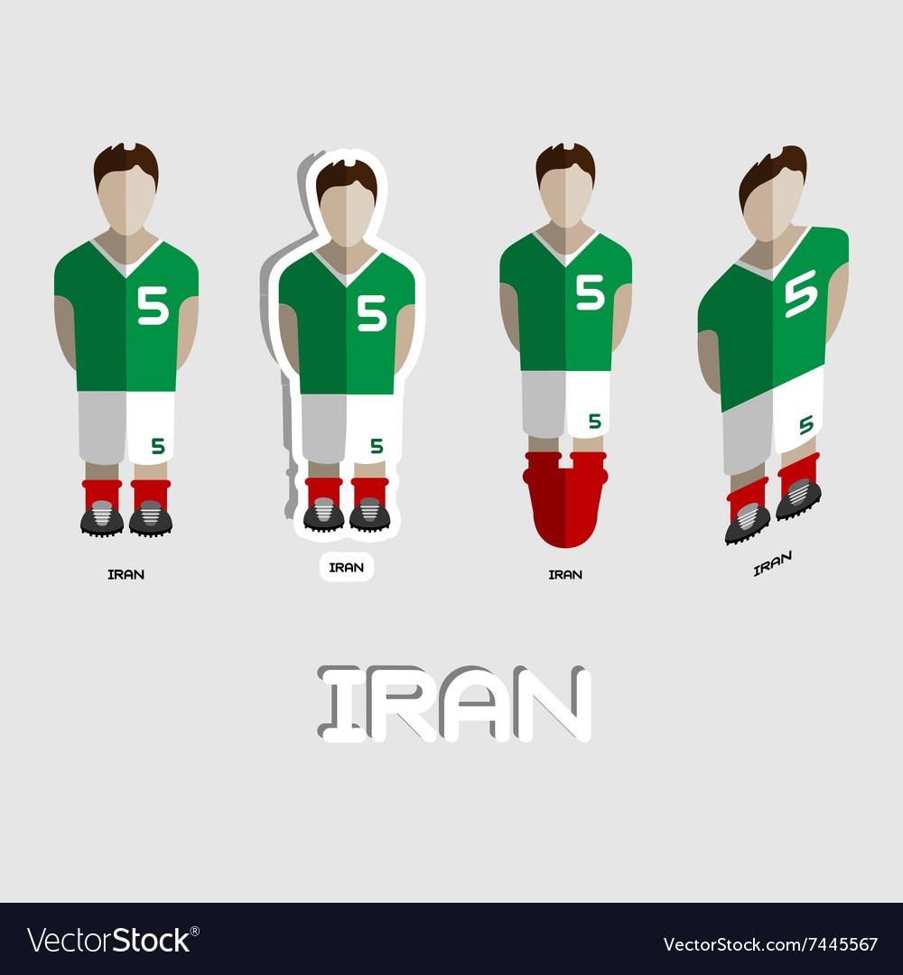 b5f3a9eab4c Iran Soccer Team Sportswear Template Royalty Free Vector