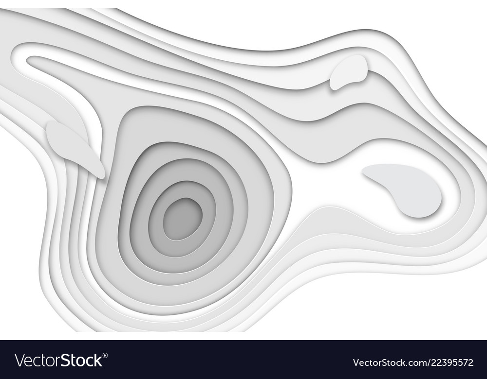 3d papercut banner of gradient white paper layers