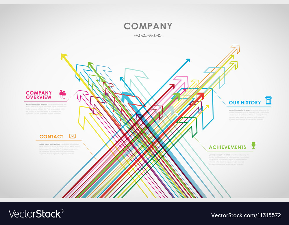 Company infographic overview design template with
