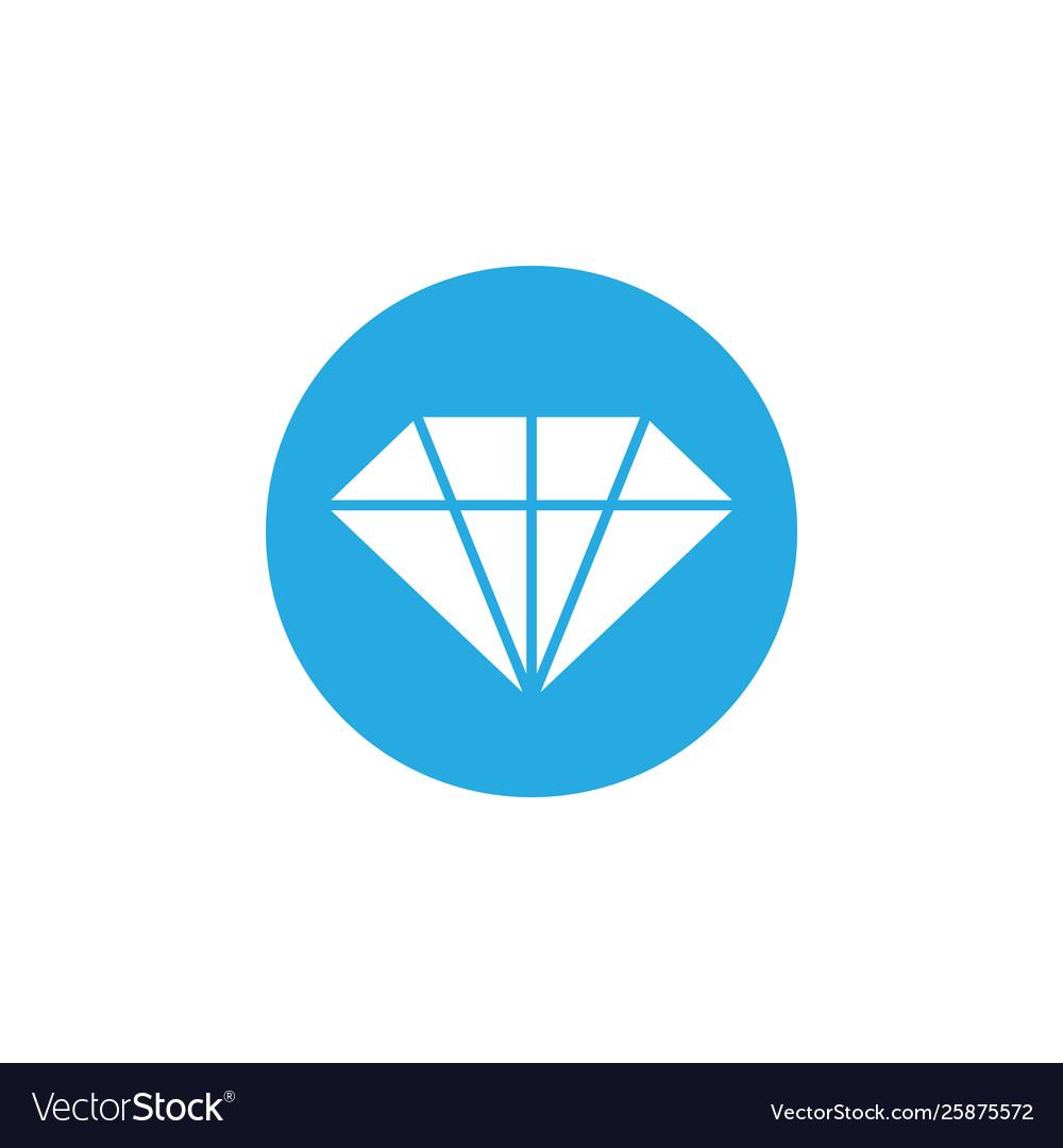 Diamond icon design template isolated