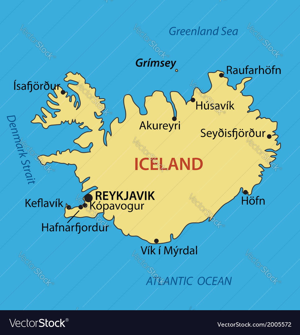 Iceland - map
