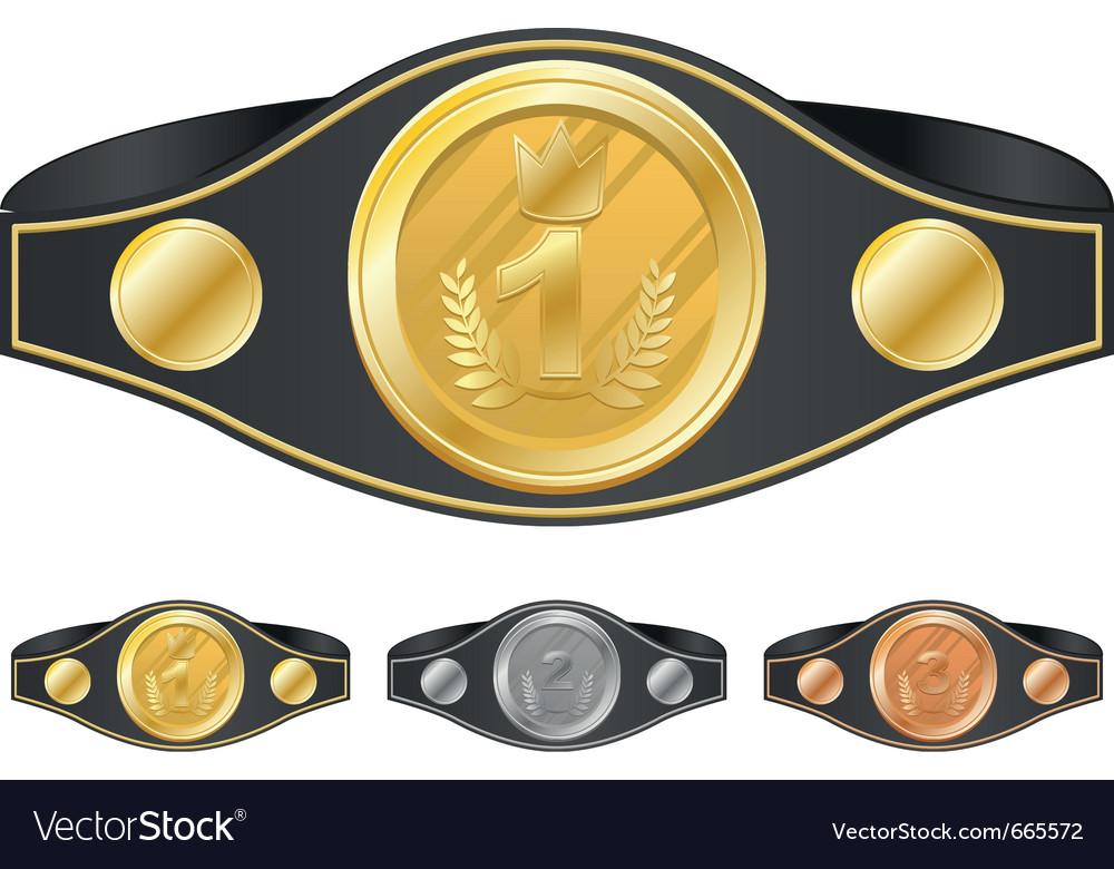 Three champion belts