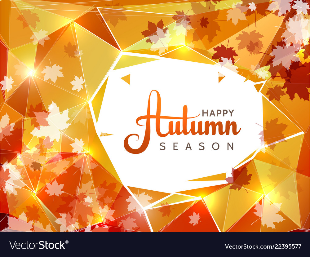 Autumn season background with white circle