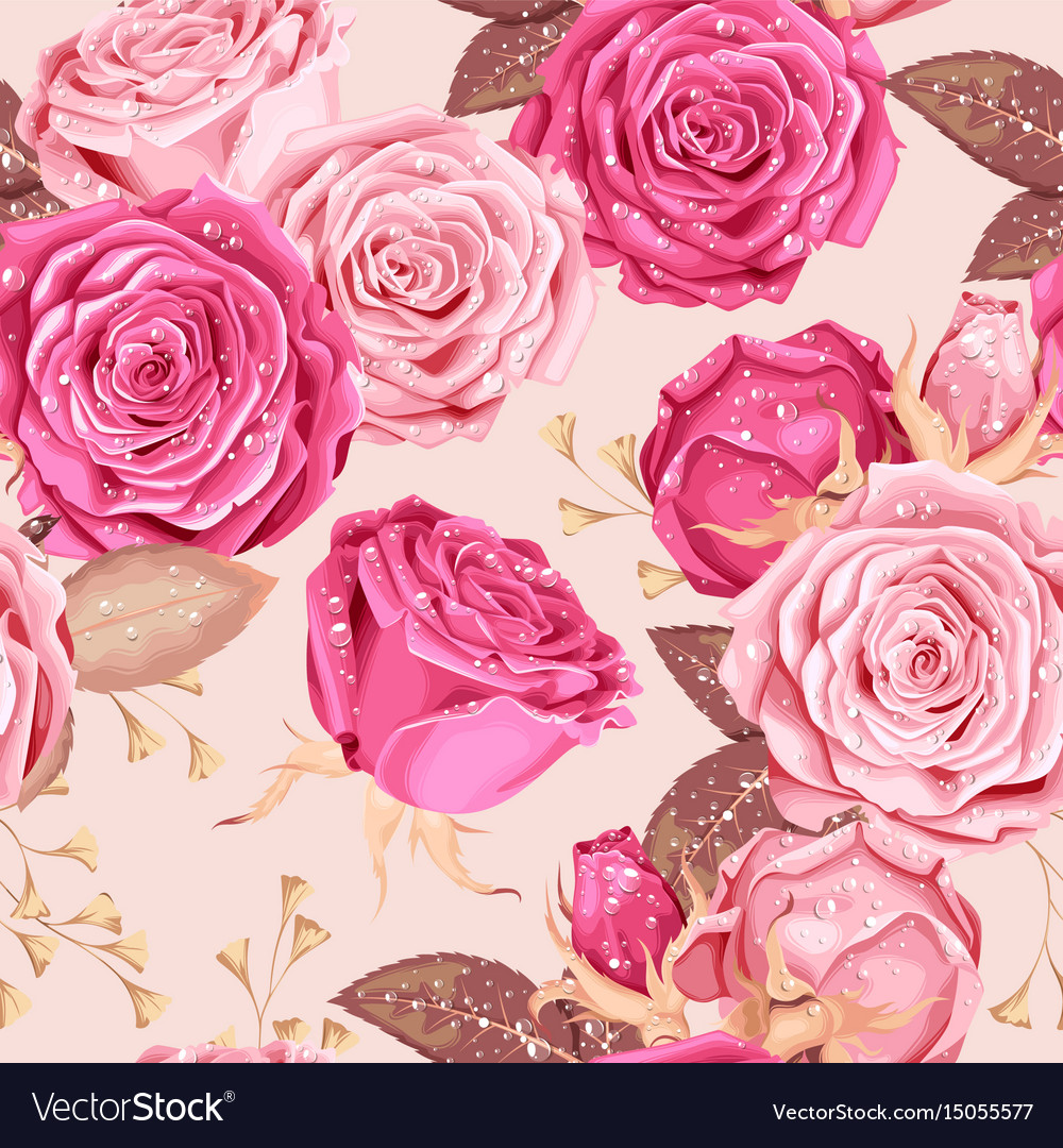 Beautiful roses seamless